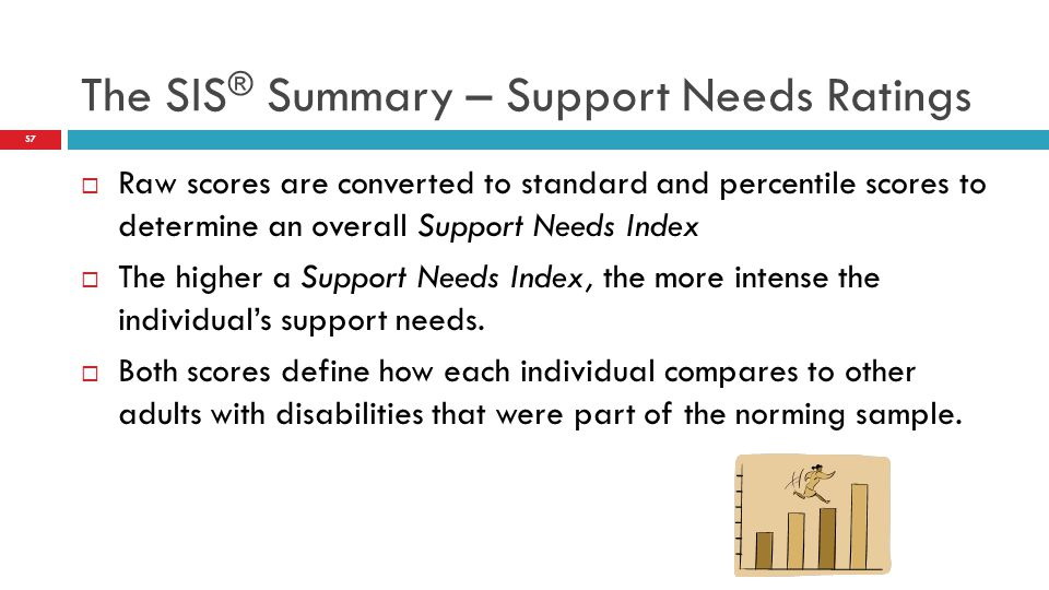 The SIS® Summary – Support Needs Ratings