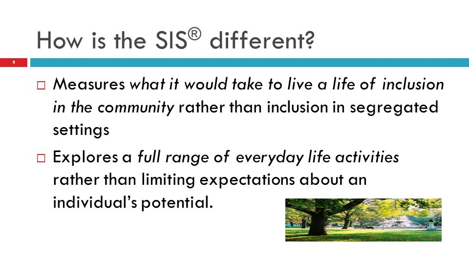 How is the SIS® different