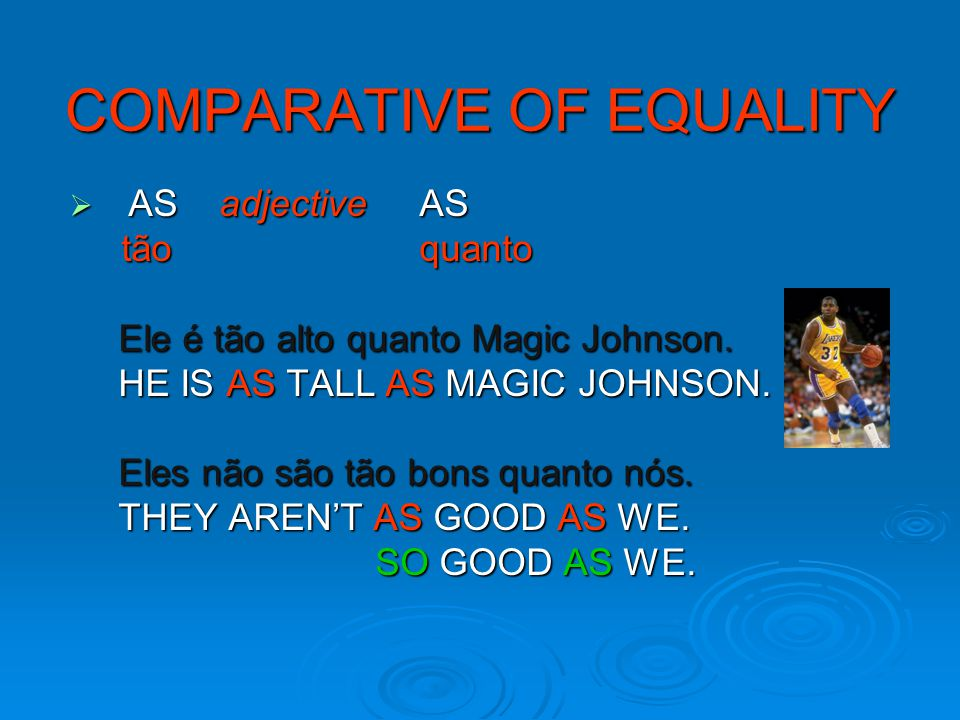 COMPARATIVE OF EQUALITY