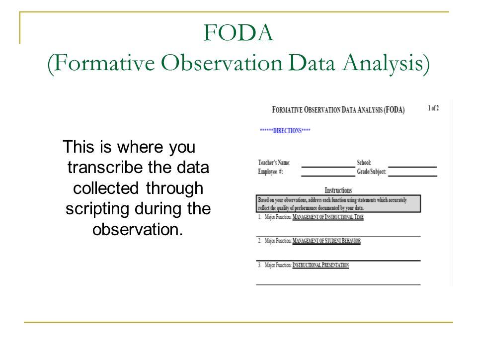 FODA (Formative Observation Data Analysis)