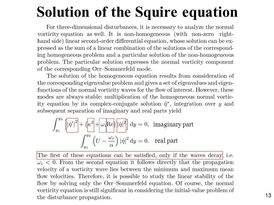 Solution of the Squire equation