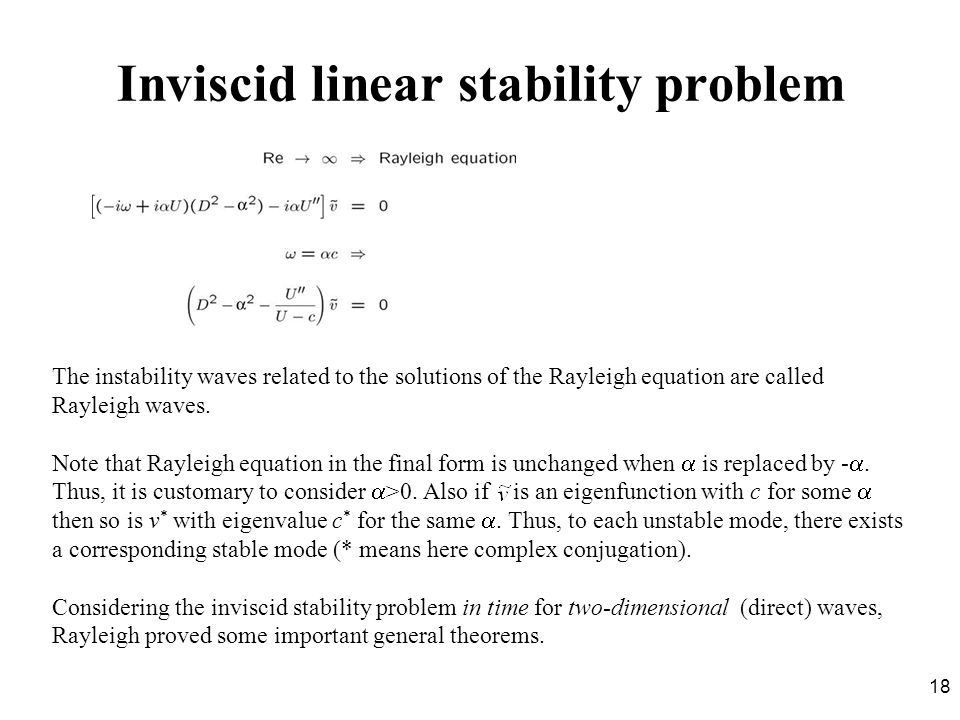 Inviscid linear stability problem