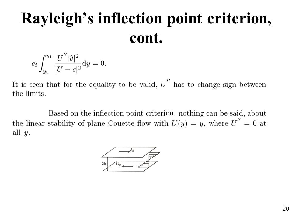 Rayleigh's inflection point criterion, cont.