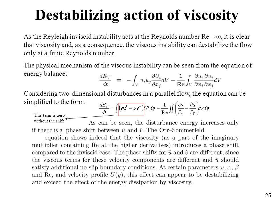 Destabilizing action of viscosity