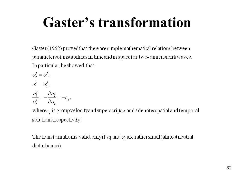 Gaster's transformation