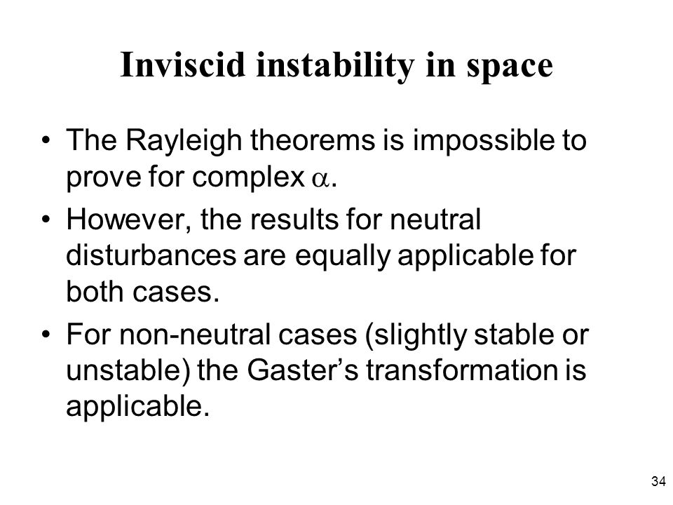 Inviscid instability in space