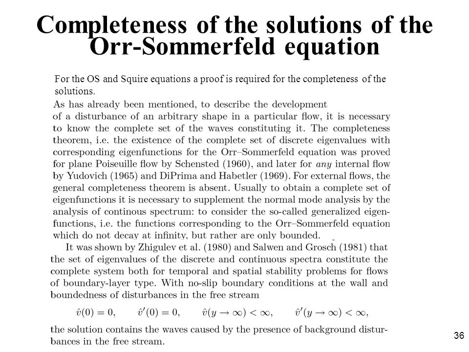 Completeness of the solutions of the Orr-Sommerfeld equation