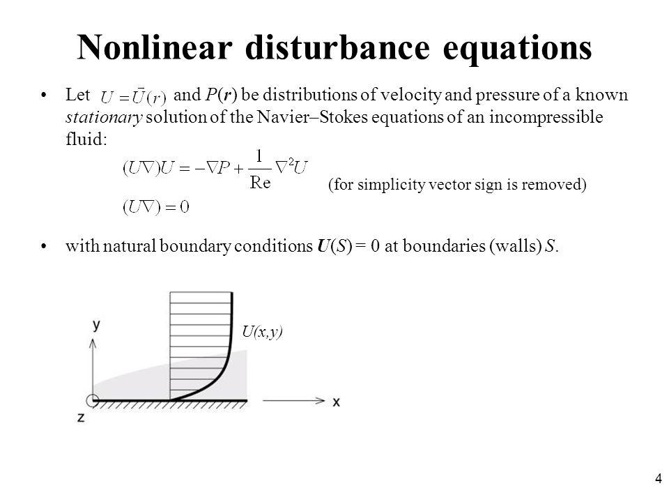 Nonlinear disturbance equations