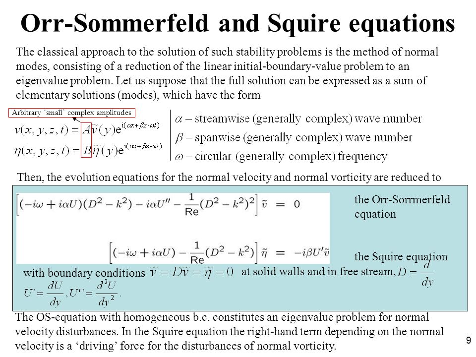 Orr-Sommerfeld and Squire equations