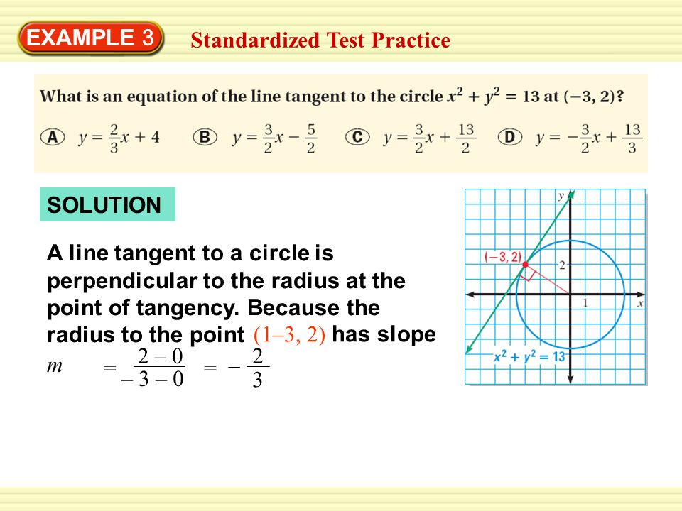 EXAMPLE 3 Standardized Test Practice. SOLUTION.