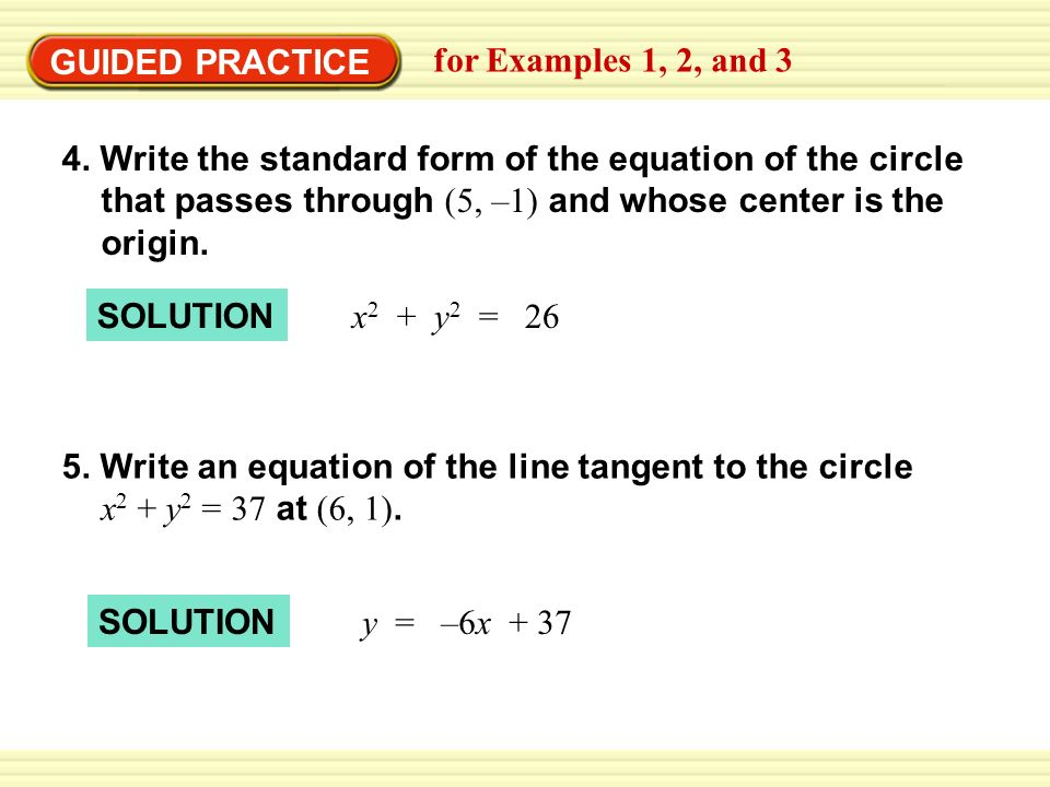 GUIDED PRACTICE for Examples 1, 2, and 3.