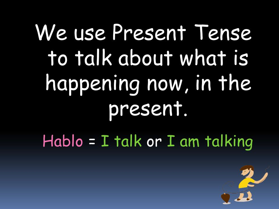 Hablo = I talk or I am talking