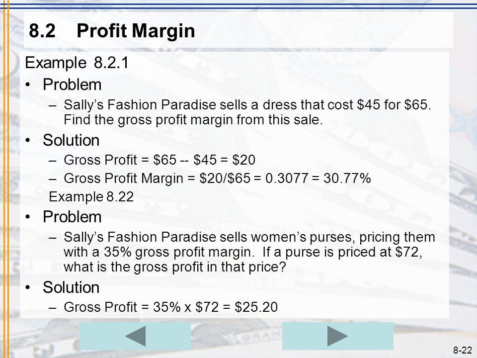 8.2 Profit Margin Example 8.2.1 Problem Solution