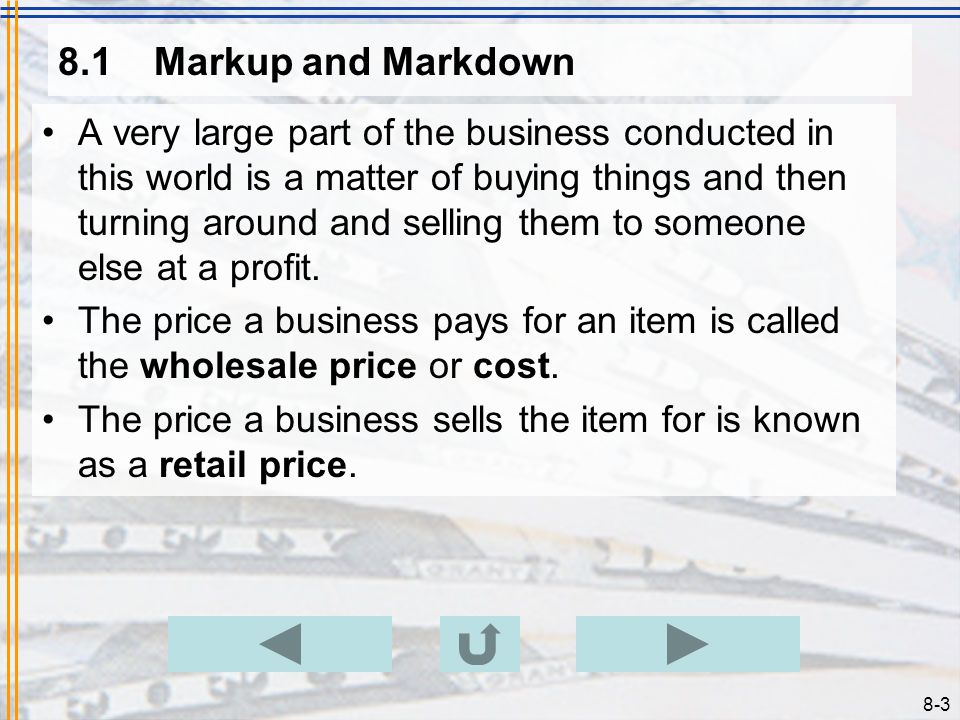 8.1 Markup and Markdown