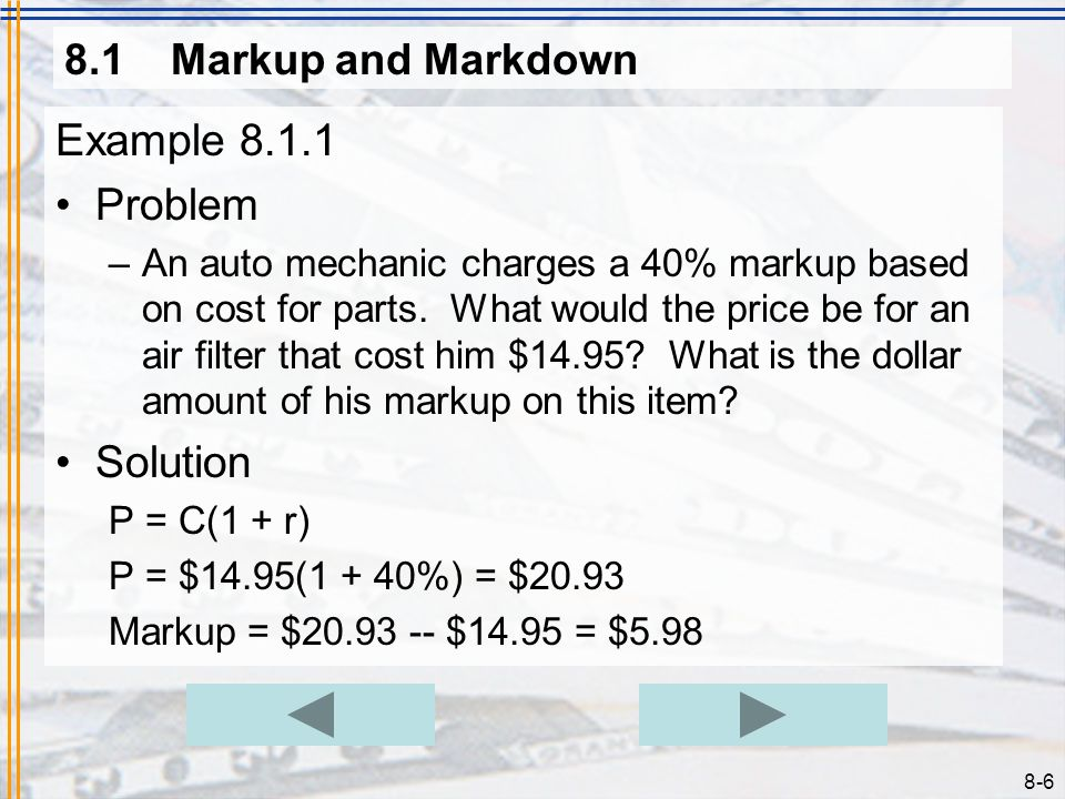 Example 8.1.1 Problem Solution 8.1 Markup and Markdown