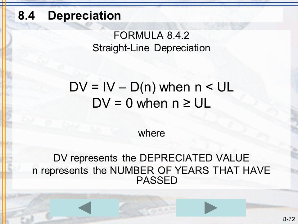 DV = IV – D(n) when n < UL DV = 0 when n ≥ UL