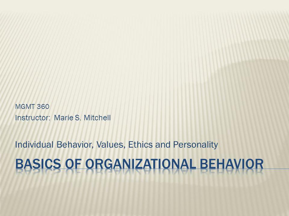 Basics of Organizational Behavior