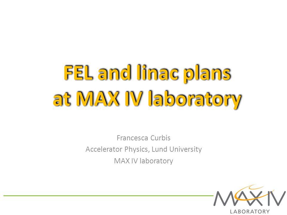 FEL and linac plans at MAX IV laboratory
