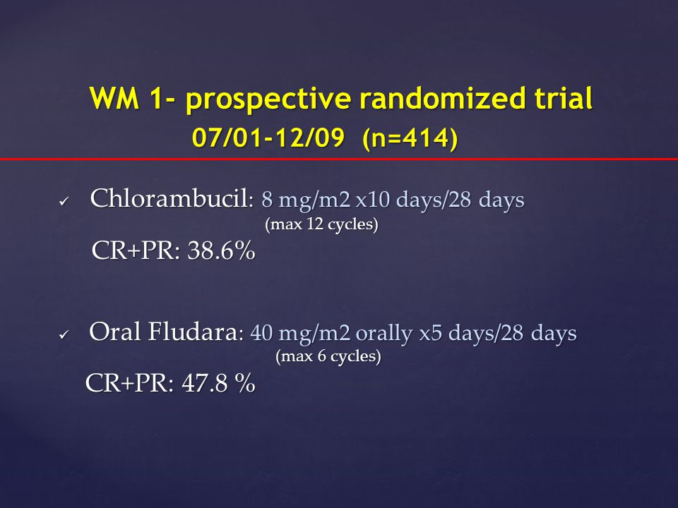 WM 1- prospective randomized trial 07/01-12/09 (n=414)