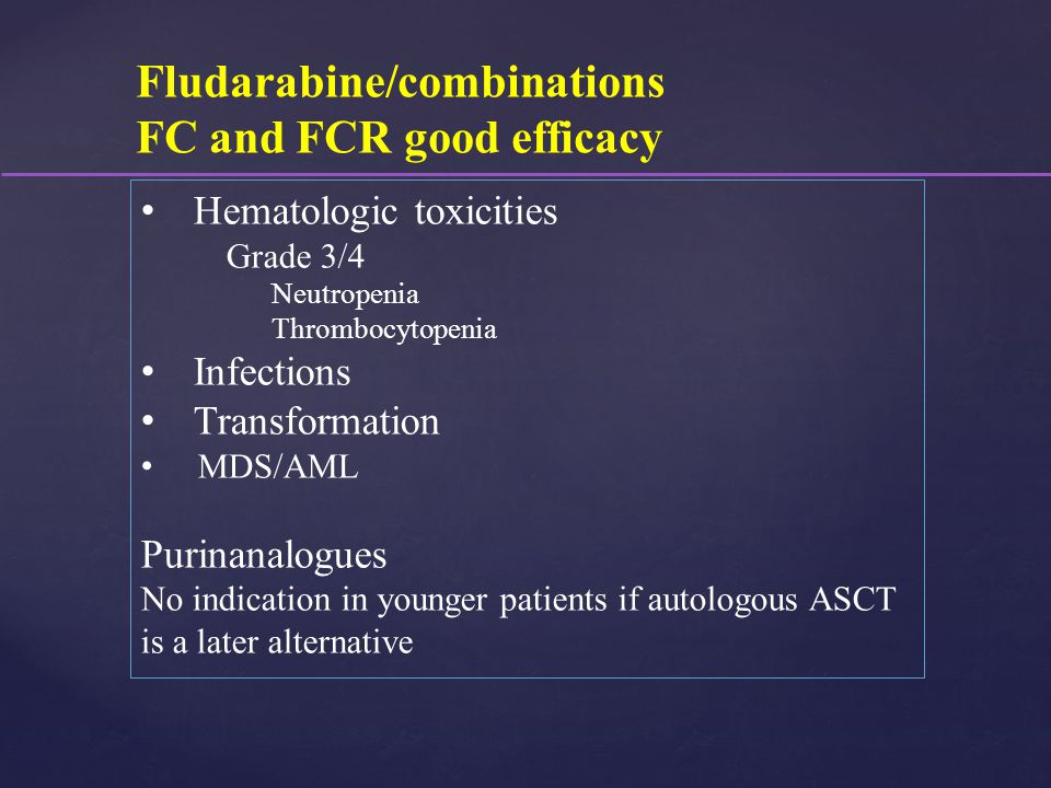 FC and FCR good efficacy