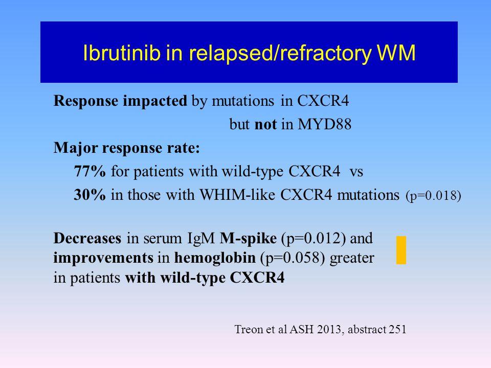 Ibrutinib in relapsed/refractory WM