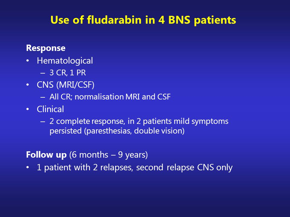 Use of fludarabin in 4 BNS patients