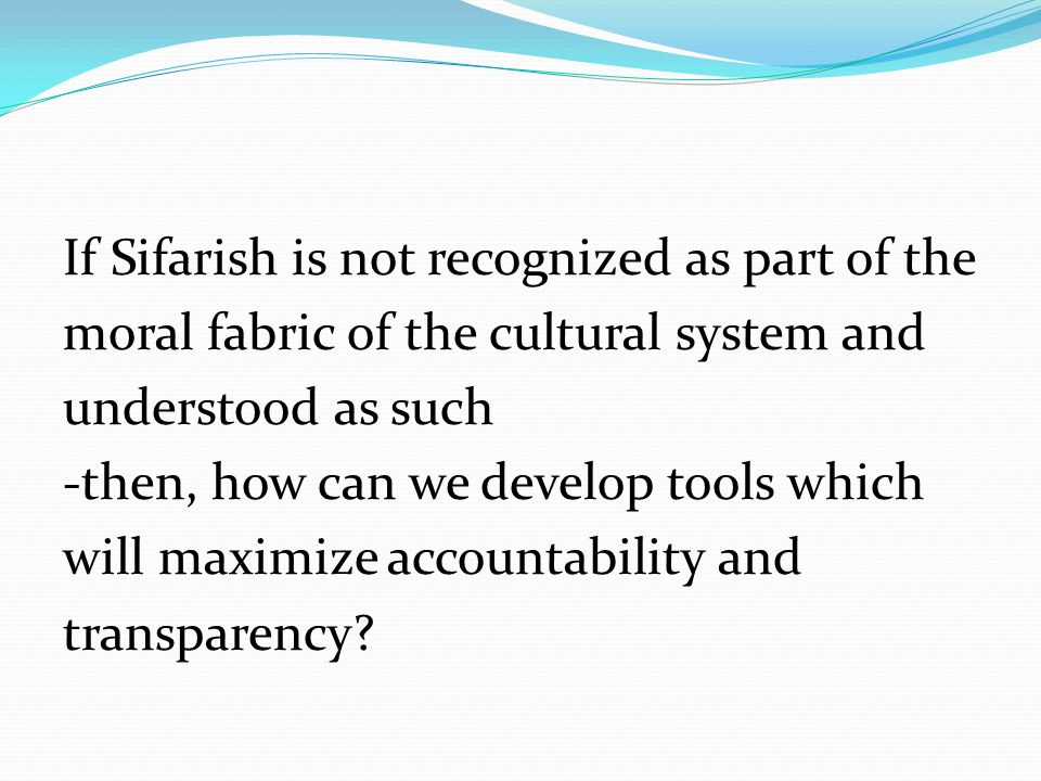 If Sifarish is not recognized as part of the