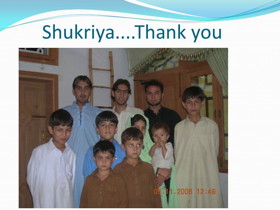 Shukriya....Thank you