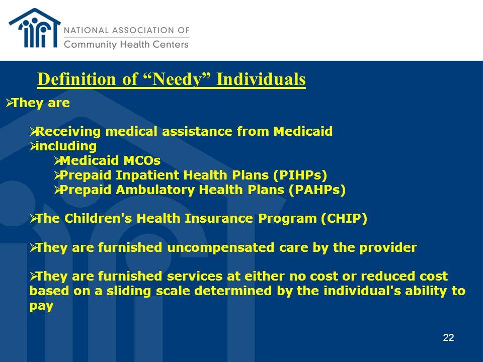 Definition of Needy Individuals