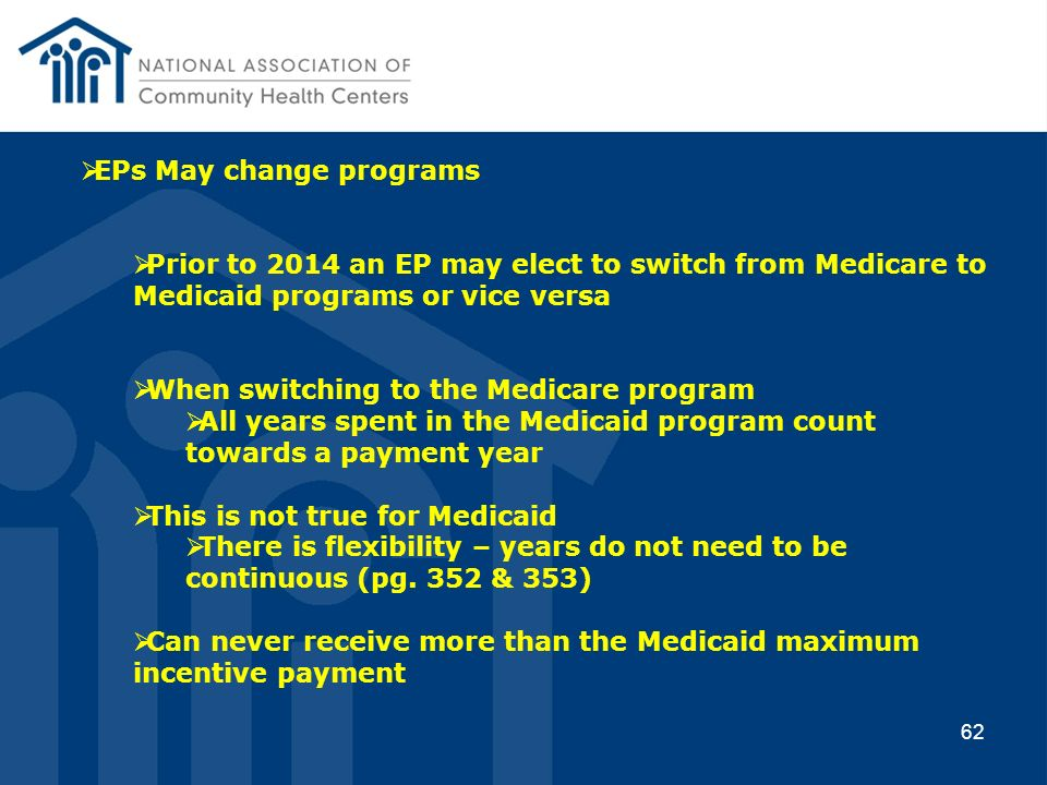 EPs May change programs