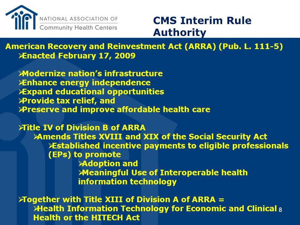CMS Interim Rule Authority