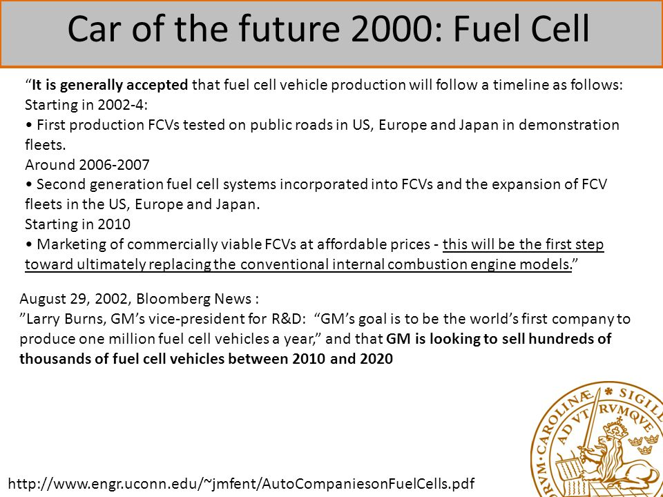 Car of the future 2000: Fuel Cell