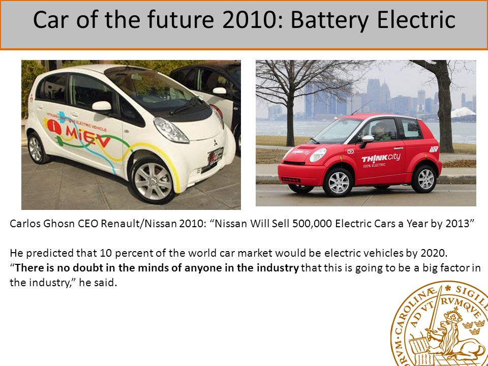 Car of the future 2010: Battery Electric