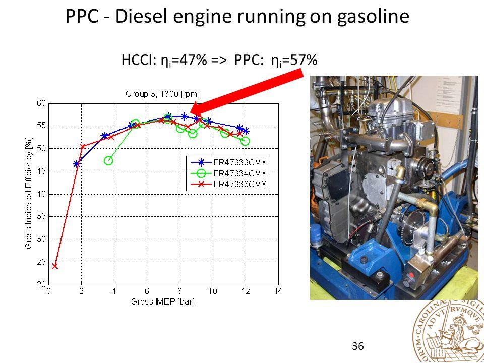 PPC - Diesel engine running on gasoline