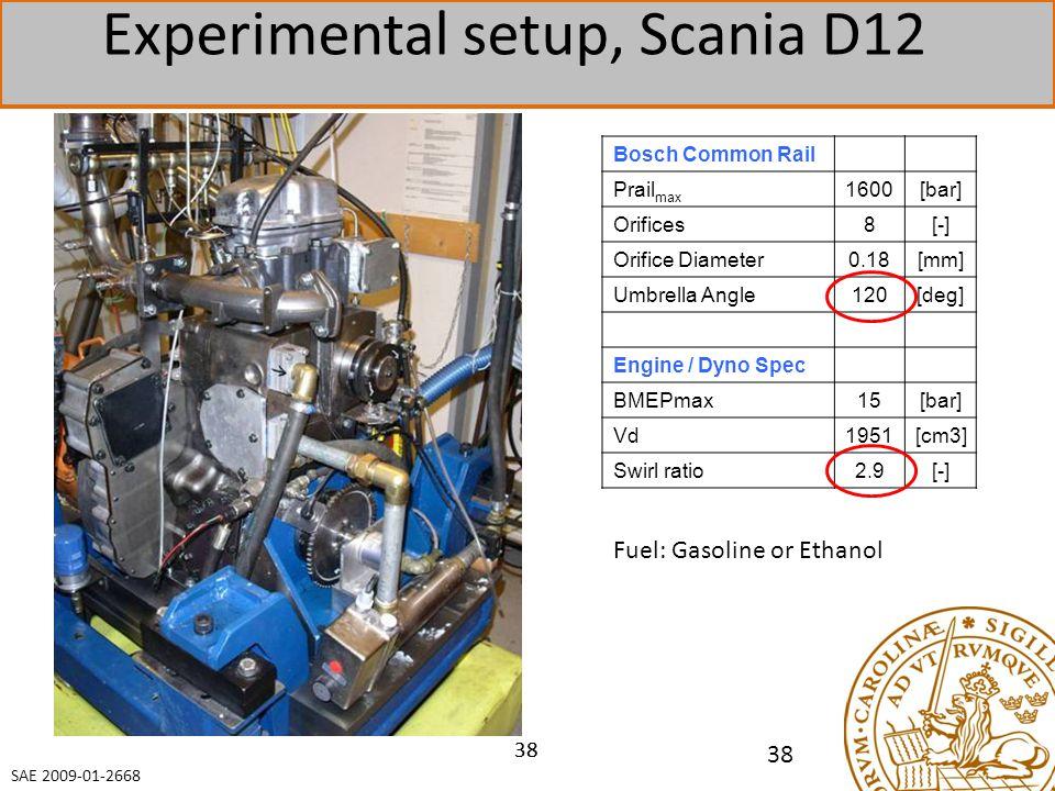 Experimental setup, Scania D12