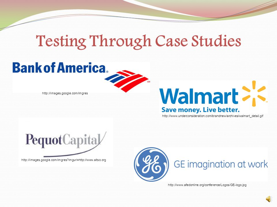 Testing Through Case Studies