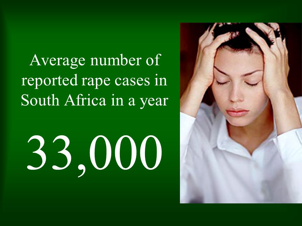 Average number of reported rape cases in South Africa in a year
