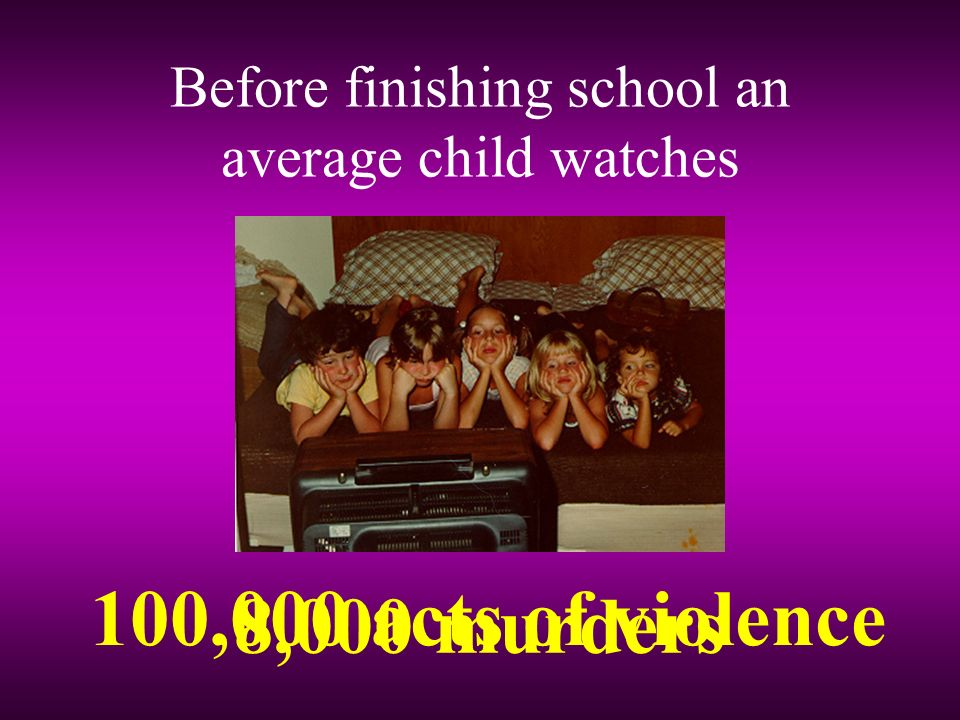 Before finishing school an average child watches