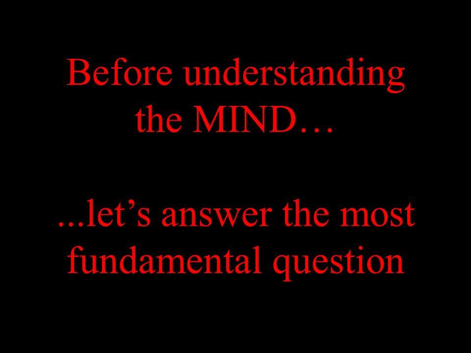 Before understanding the MIND…