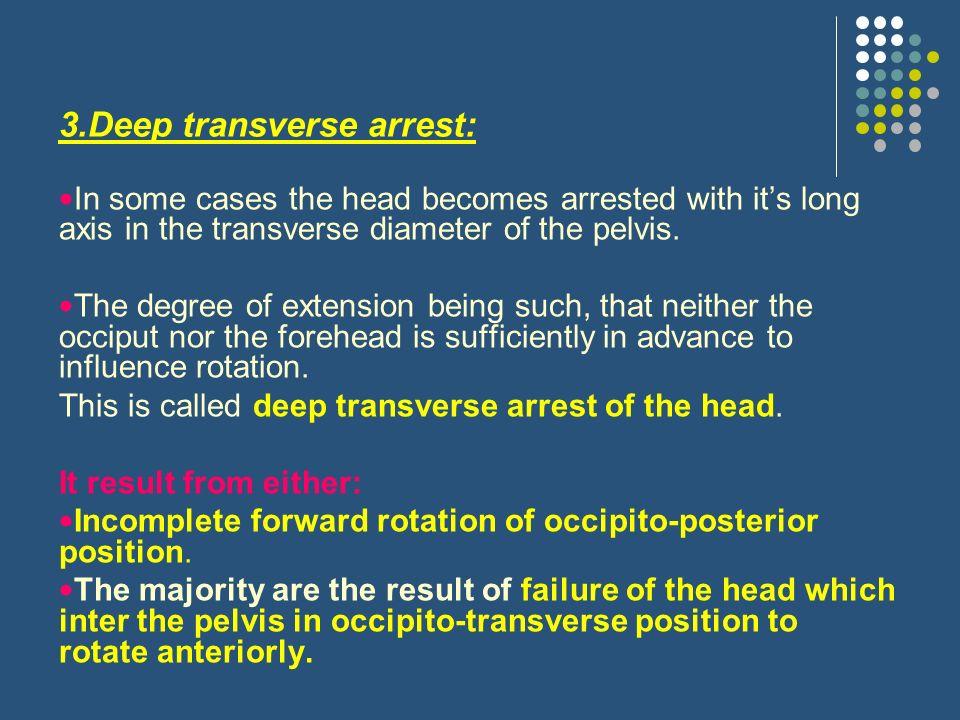 3.Deep transverse arrest: