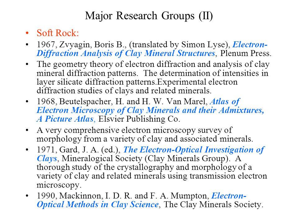 Major Research Groups (II)
