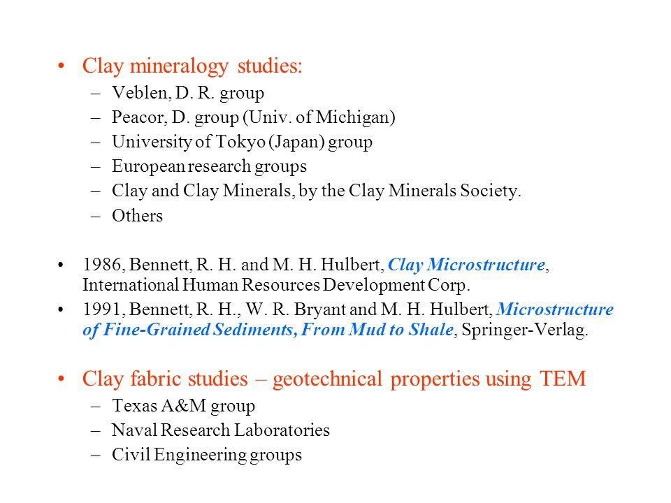 Clay mineralogy studies: