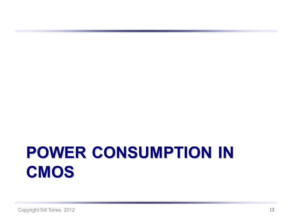power consumption in cmos