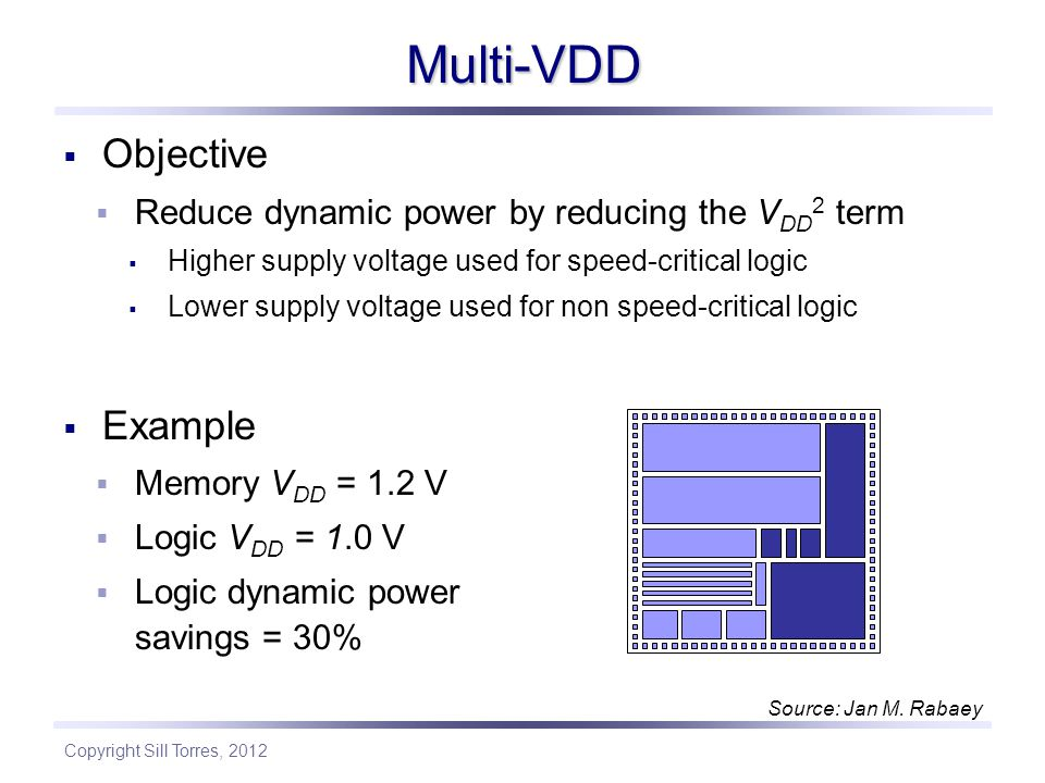 Multi-VDD Objective Example
