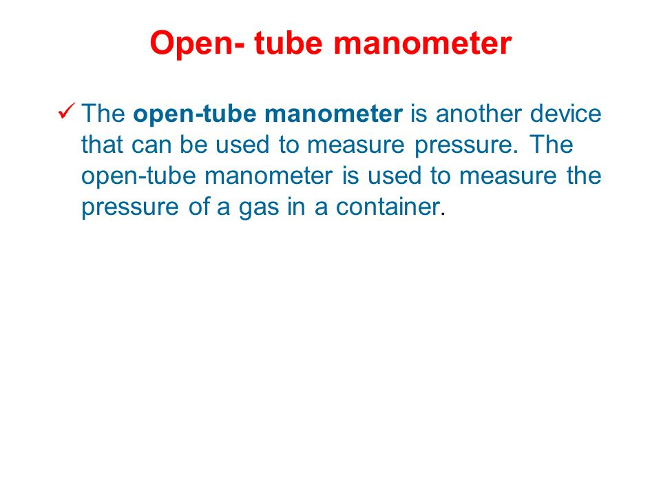 Open- tube manometer