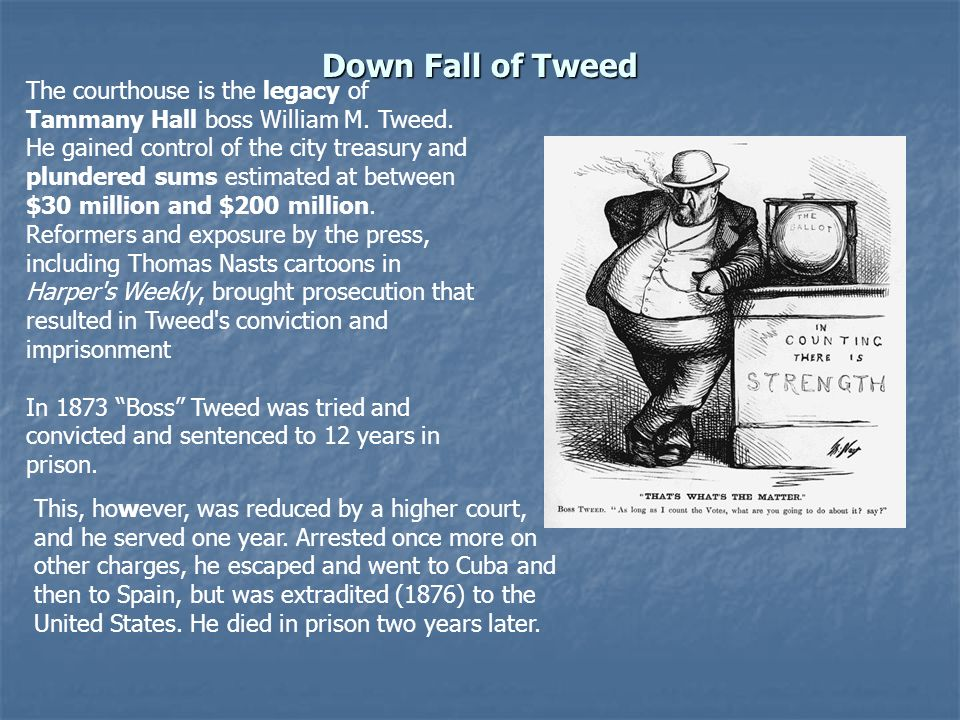 Down Fall of Tweed