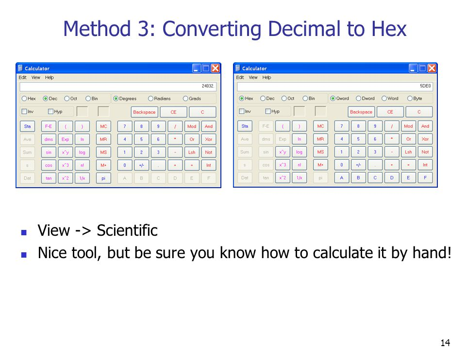 Method 3: Converting Decimal to Hex