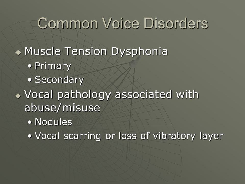 Common Voice Disorders
