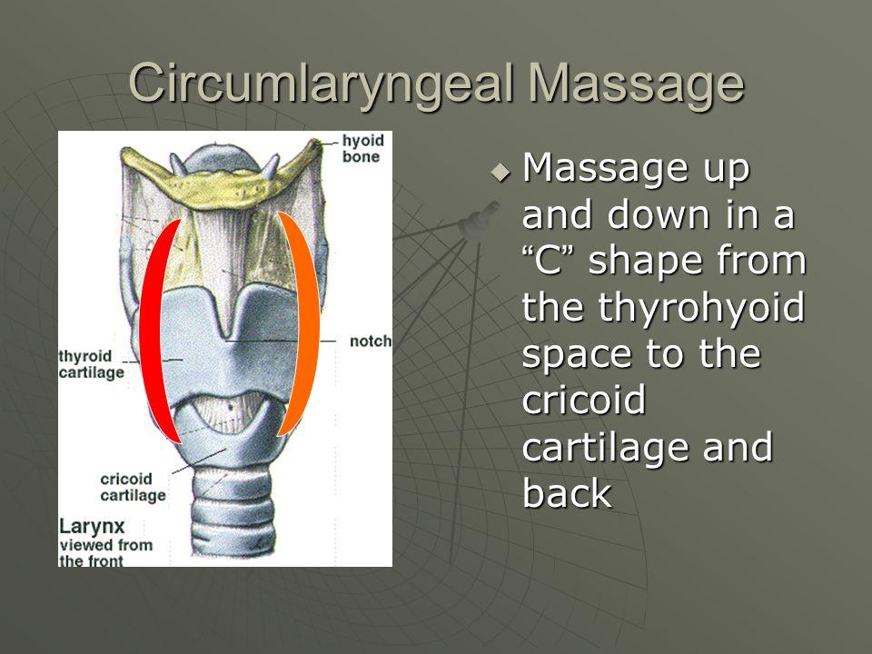 Circumlaryngeal Massage