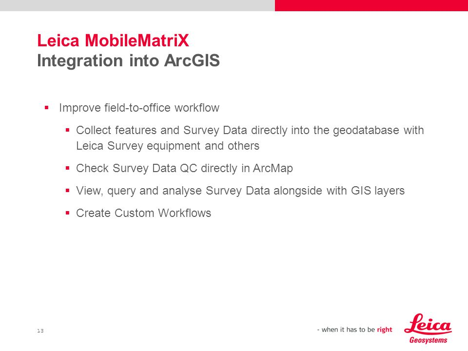 Leica MobileMatriX Integration into ArcGIS